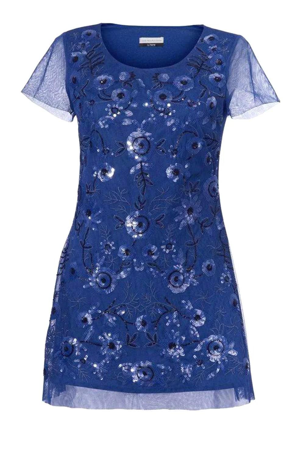 007.626 GUIDO MARIA KRETSCHMER Damen Designer-Paillettenshirt Royalblau
