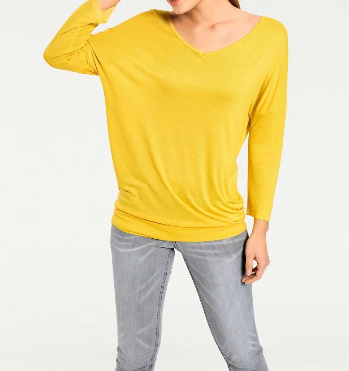 105.810 HEINE Damen Designer-Oversized-Shirt Gelb