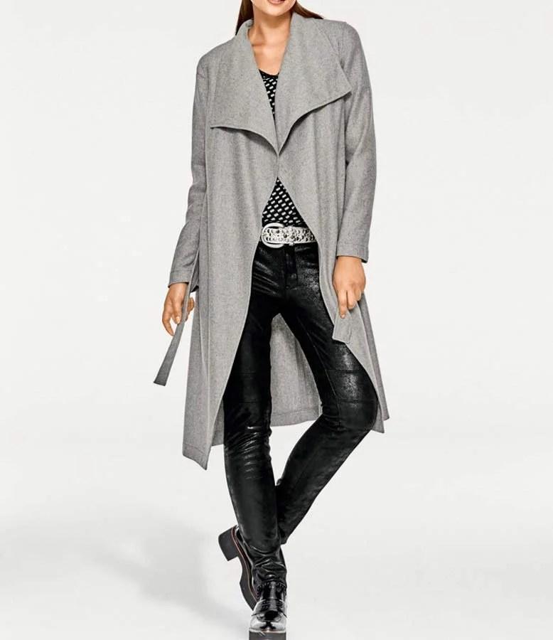 110.713 RICK CARDONA Damen Designer-Mantel grau