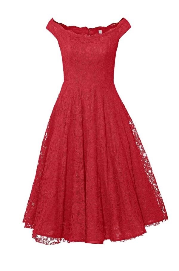 406.024 Heine Cocktailkleid mit Petticoat rot