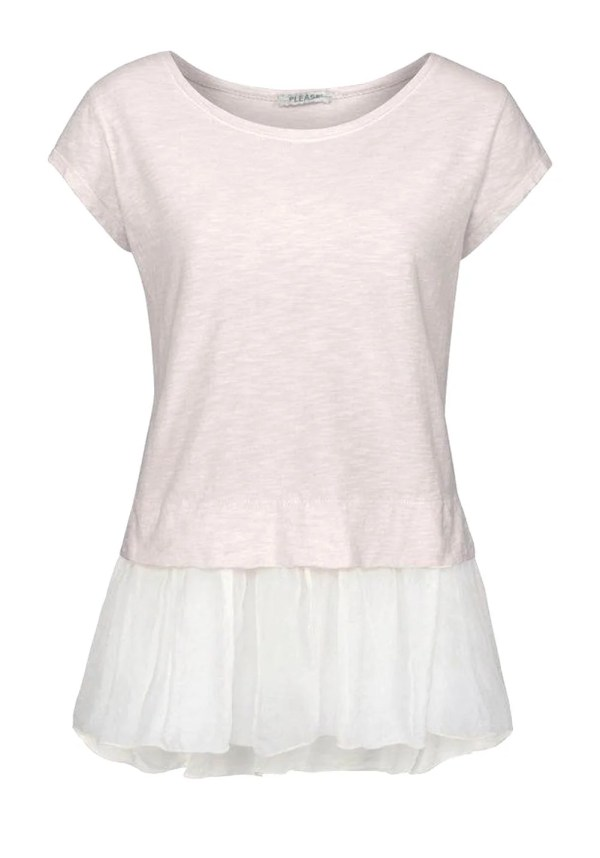 419.649 Jersey-Seiden-Shirt , creme von PLEASE Grösse S