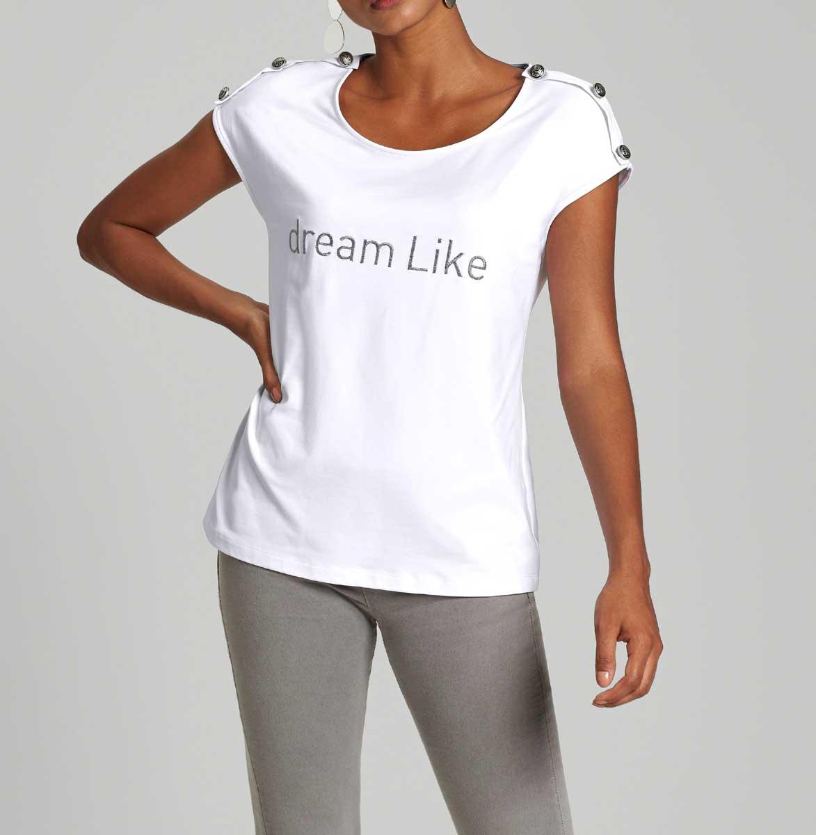 633.039 Shirt m. Stickerei, weiß von Création L Grösse 44