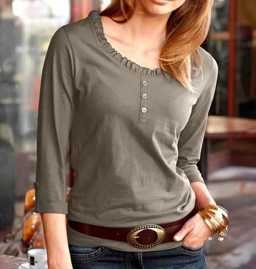 727.475 TAMARIS Damen-Shirt Taupe