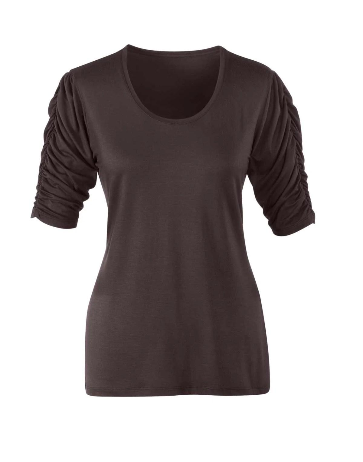 734.932 Jerseyshirt, braun von Witt Weiden Grösse 52