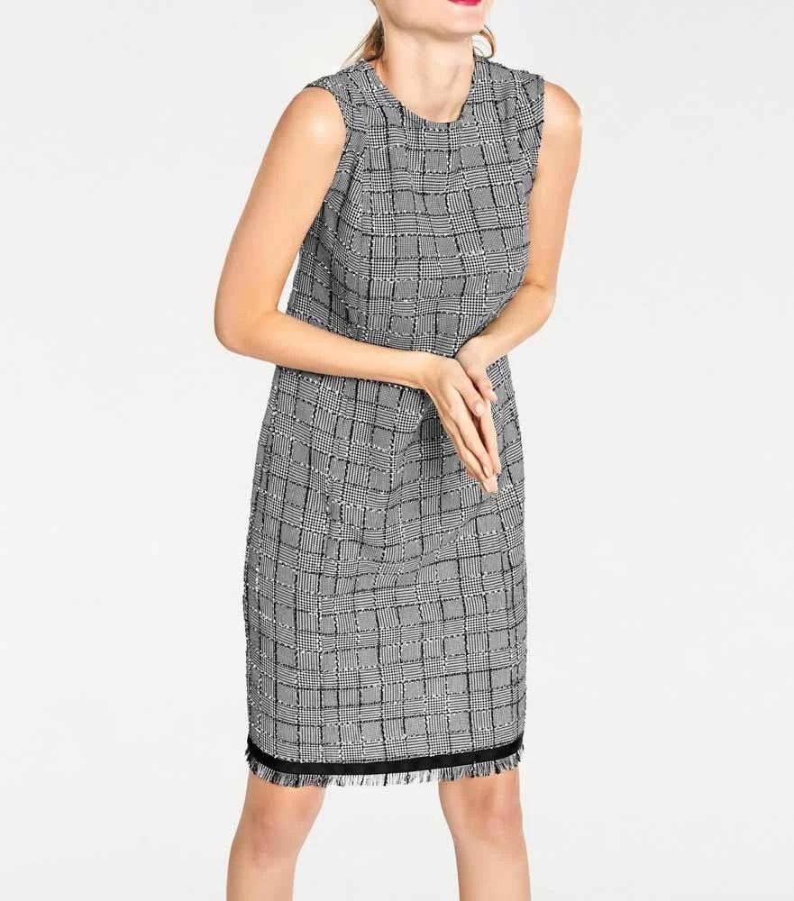 765.155 RICK CARDONA Damen Designer-Etuikleid Schwarz-Weiß