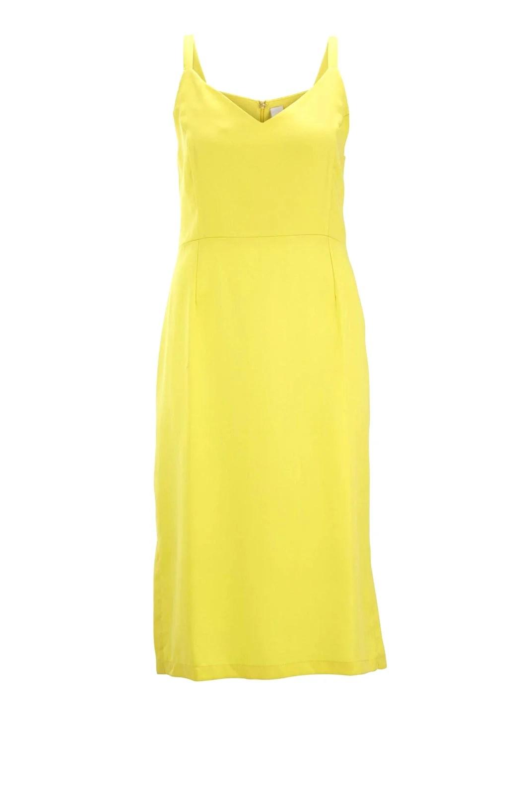 785.382 HEINE Damen Designer-Kleid Lemongelb