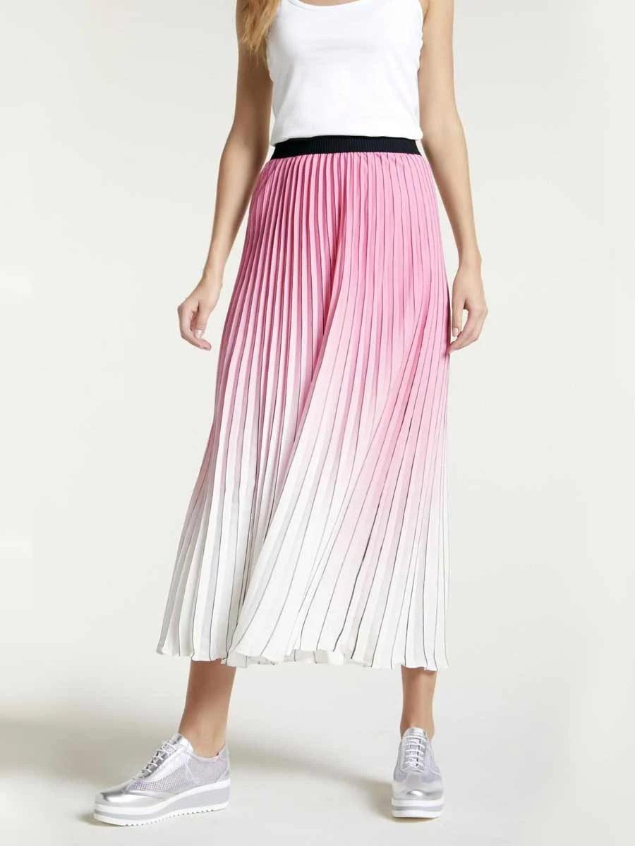 147.212 HEINE Damen Designer-Plisseerock Candy-Offwhite
