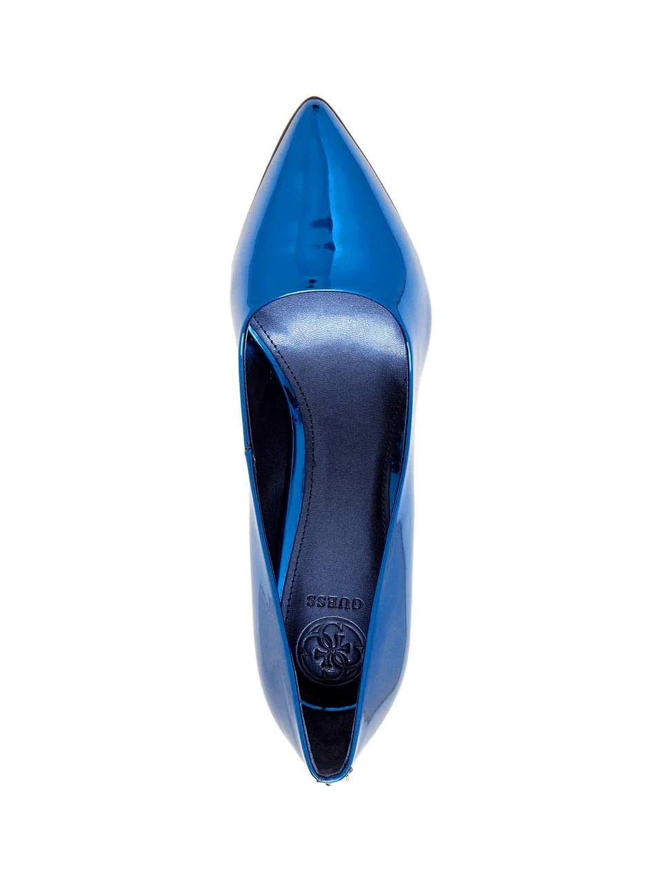 382.295 GUESS Damen Marken-Pumps Blau-Metallic