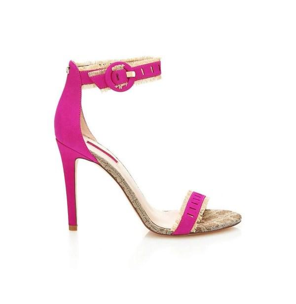 522.824 GUESS Damen Marken-Ledersandalette Pink