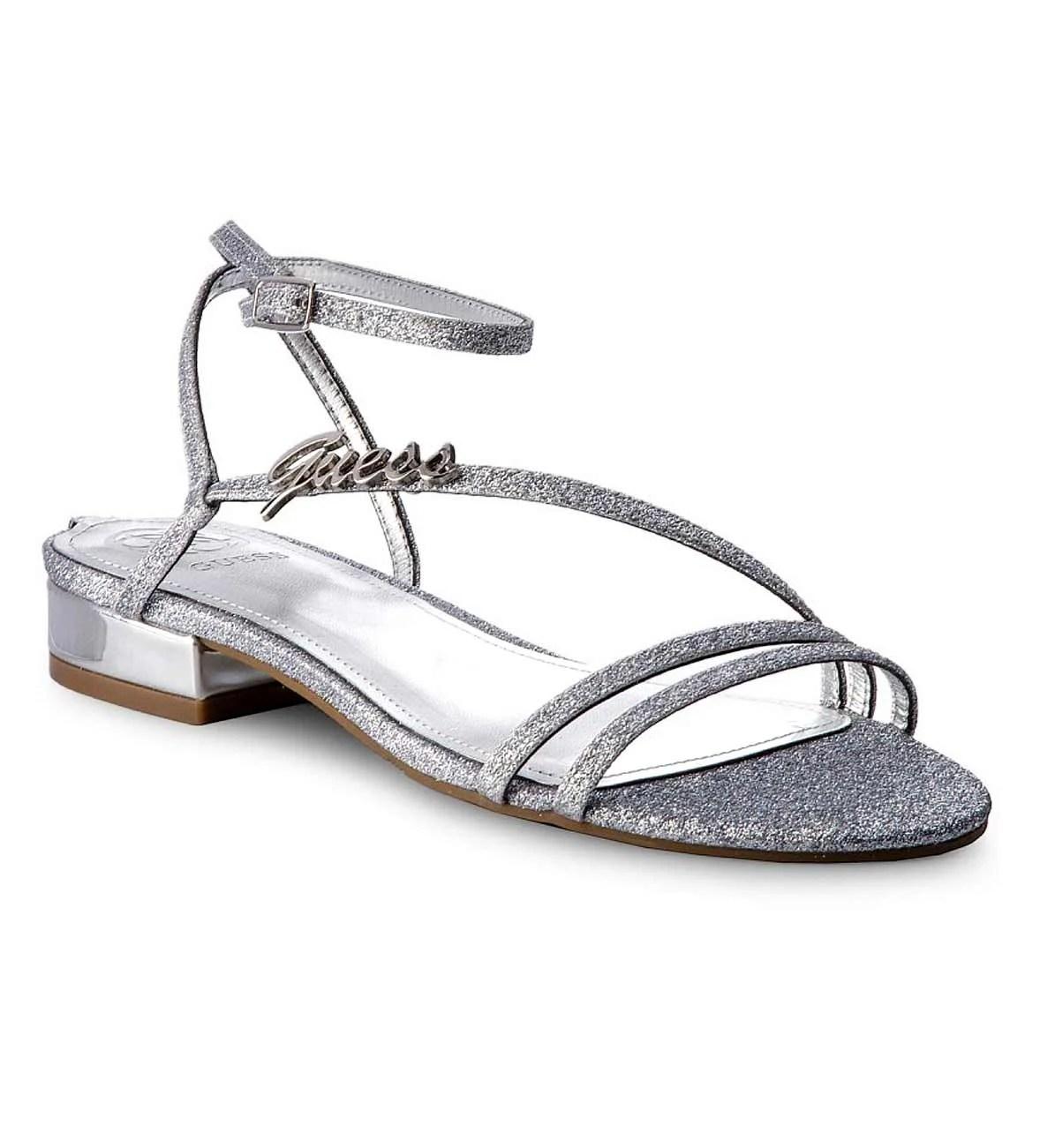 993.044 GUESS Damen Marken-Sandalette Silberfarben