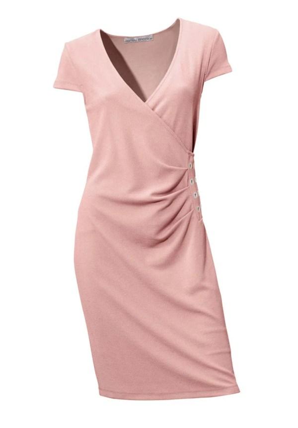 business kleider für damen ASHLEY BROOKE Damen Designer-Bodyforming-Etuikleid Rose 003.086 Missforty