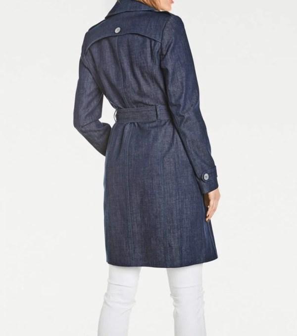 Damenmäntel Frühjahr 2021 Jeansmantel Damen Jeans Trenchcoat Kurzmantel Übergangsmantel Frühlingsmantel 004.425 Missforty