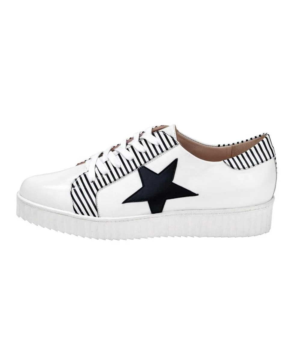 bequeme Schuhe HEINE Leder-Sneaker, weiß 005.802 Missforty.