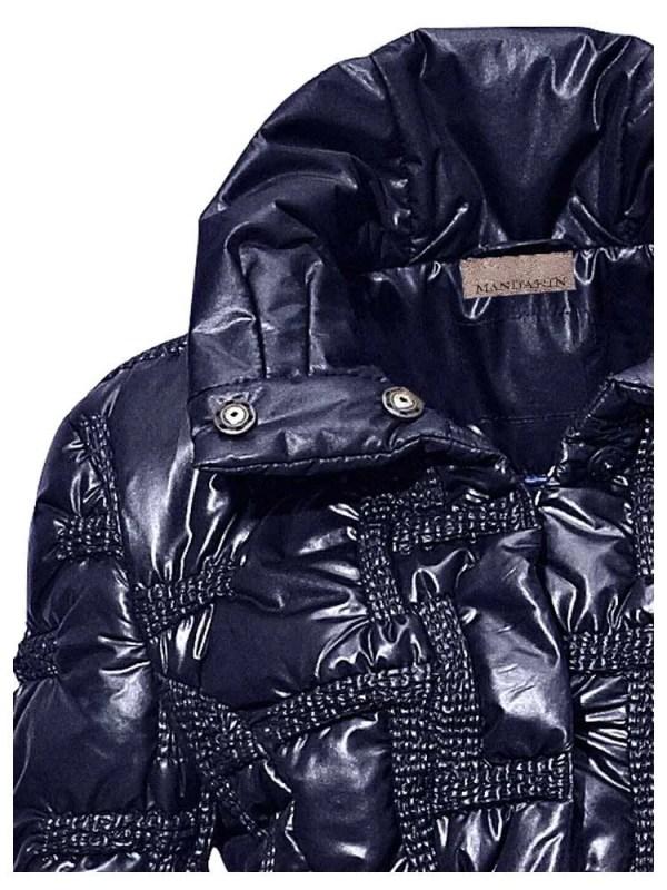 jacken auf rechnung bestellen als neukunde HEINE Damen Designer-Steppjacke Marine Warm Wattiert Stehkragen Sportiv Glanz 011.071 MISSFORTY