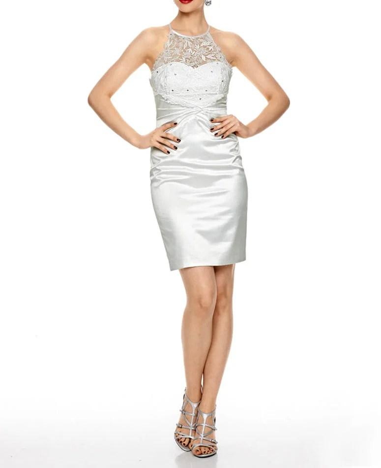 kurzes kleid für besondere anlässe Ashley Brooke event Cocktailkleid weiß 048.416 Missforty
