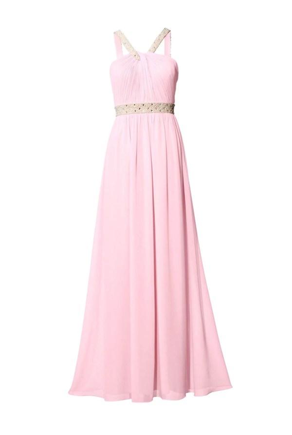 Festmoden ASHLEY BROOKE Damen Designer-Abendkleid m. Perlen-Stickerei Rosé 058.363 Missforty