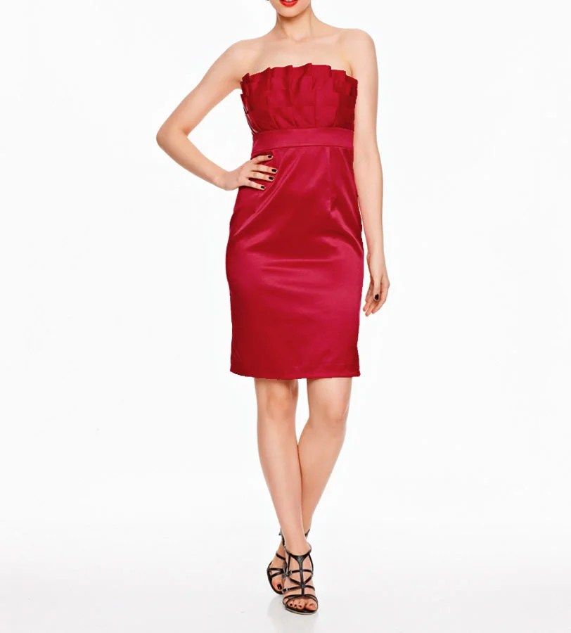 kurzes kleid für besondere anlässe Cocktailkleid, rot von Ashley Brooke event Grösse 44 070.430 Missforty