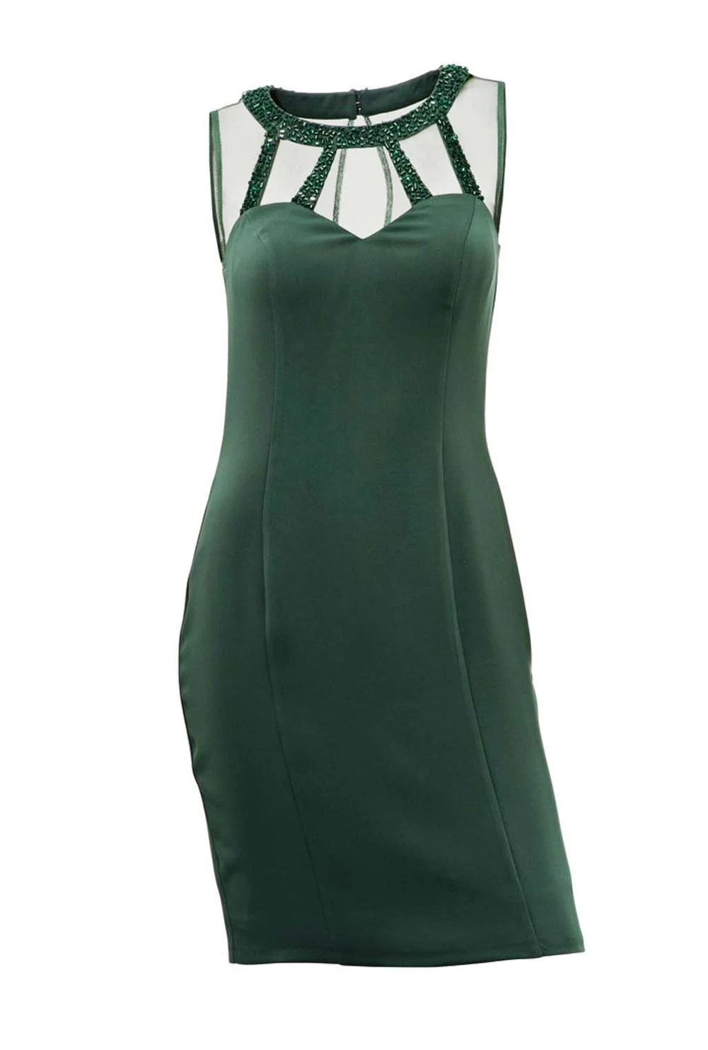 kurzes kleid für besondere anlässe Dekolletékleid, grün von Ashley Brooke event Grösse 44 151.568 Missforty