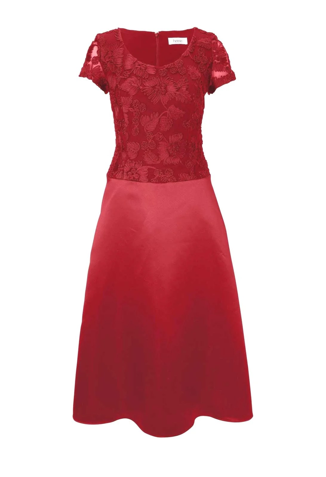 abendkleider in übergrößen Cocktailkleid mit Spitze, rot 332.497 Missforty