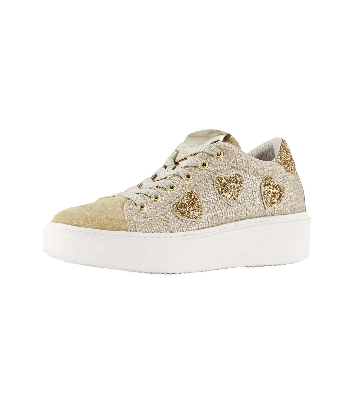 bequeme Schuhe HEINE Sneaker, beige-goldfarben 658.267 Missforty.
