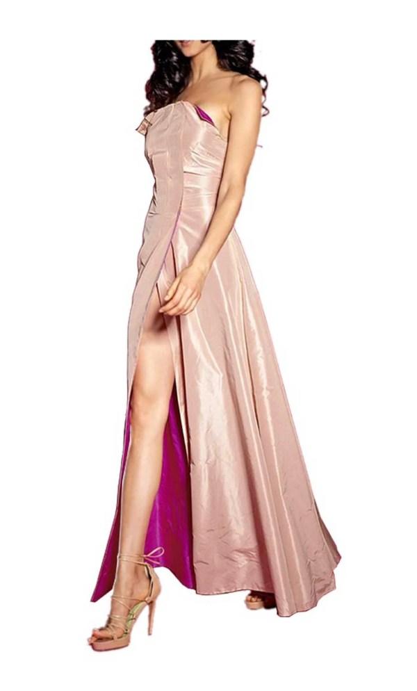 Festmoden Abend-Wendekleid, apricot-pink von Sibilla Pavenstedt for APART Grösse 34 747.267 Missforty