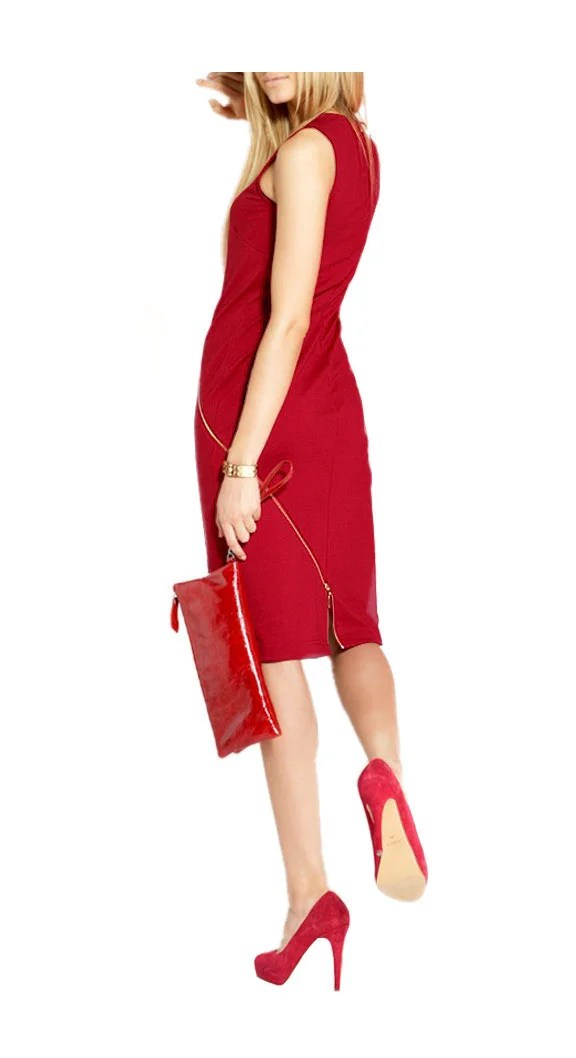 business kleider für damen Apar Etuikleid rot 758.002 Missforty