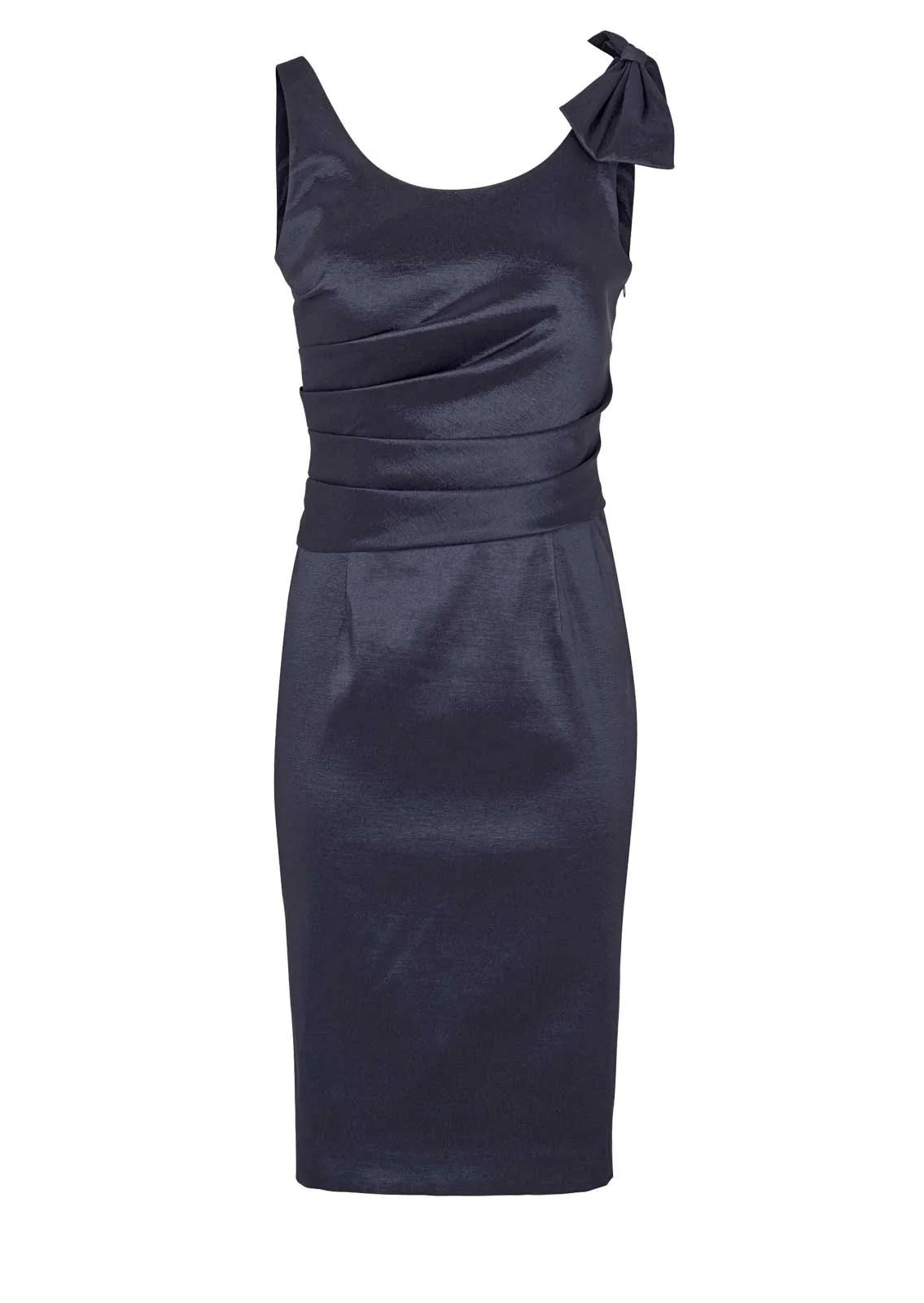 kurzes kleid für besondere anlässe ASHLEY BROOKE Damen Designer-Cocktailkleid Nachtblau 789.620 Missforty