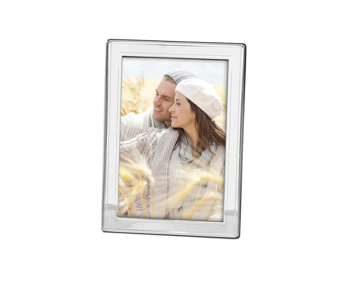 4798 Fotorahmen Bilderrahmen Nardo für Foto 13 x 18 cm, edel versilbert, anlaufgeschützt, 2 Aufhänger