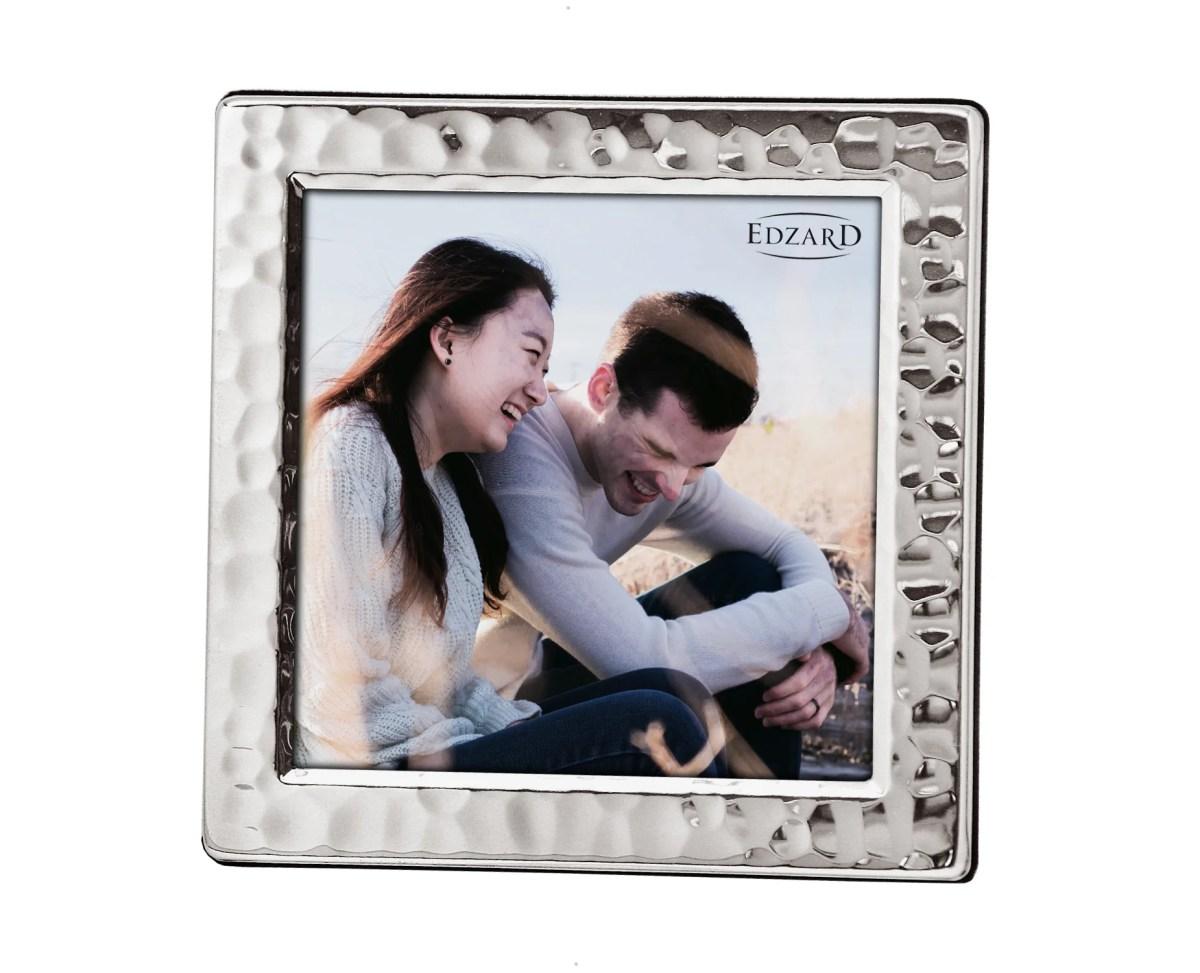 4911 Fotorahmen Bilderrahmen Pavia für Foto 10 x 10 cm, edel versilbert, anlaufgeschützt