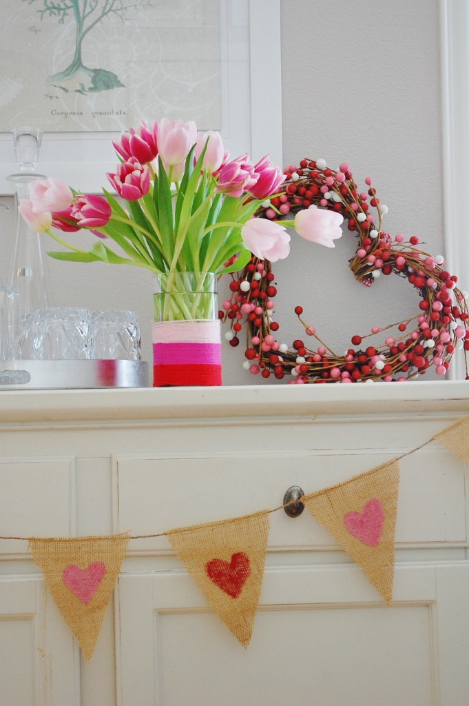 Quick DIY Valentine's Day Banner