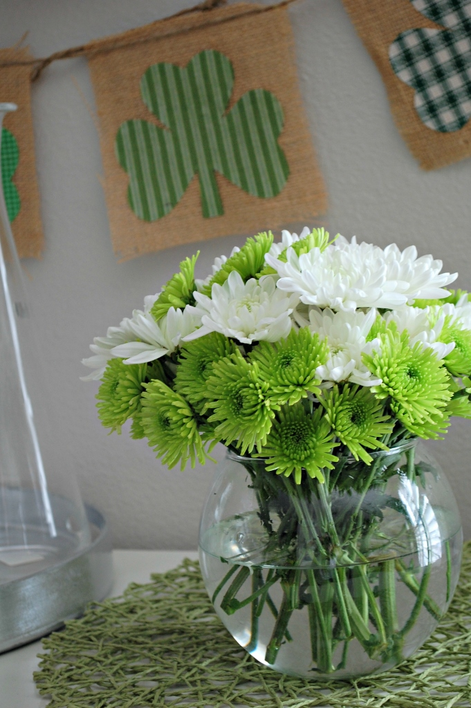 St. Patricks Day Flowers | missfrugalfancypants.com