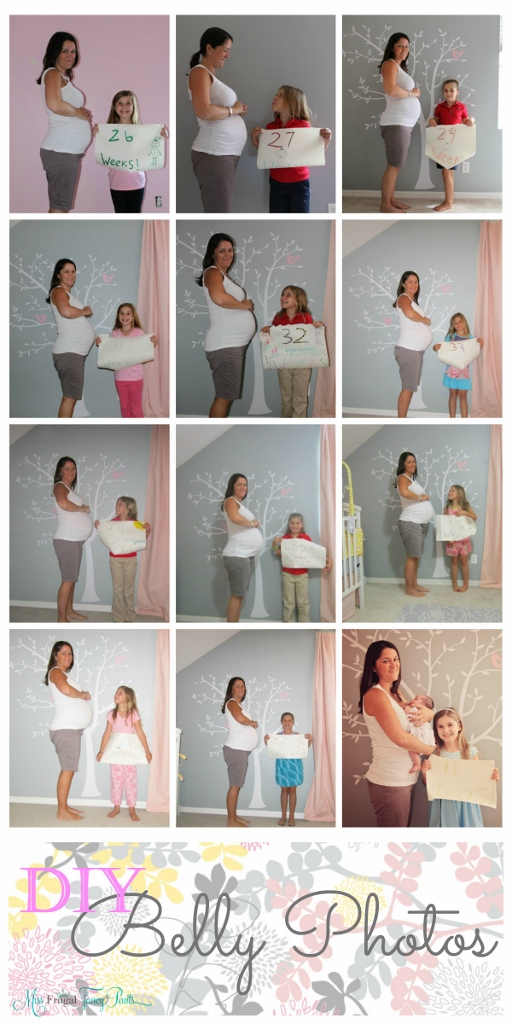 Affordable Maternity Photo Ideas | missfrugalfancypants.com