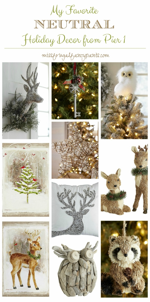 top picks from pier 1 for neutral rustic holiday decor missfrugalfancypantscom
