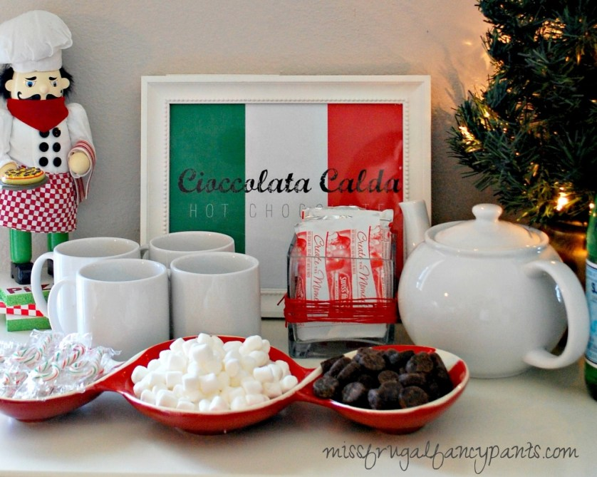 Italian Christmas Party Ideas | missfrugalfancypants.com
