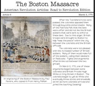the boston massacre 1