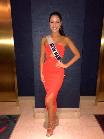Miss New Hampshire USA Sarah Mousseau before her private interview with the judges. Photo: Pageant Update