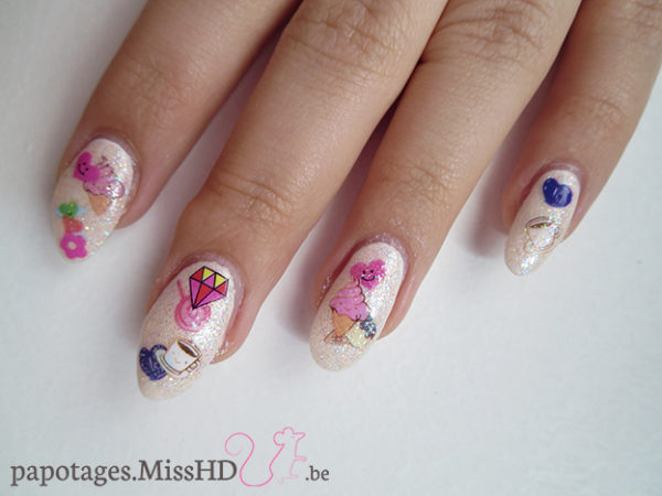 Nail art stickers jelly sandwich