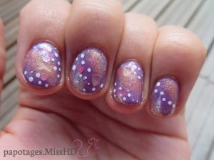 Nail art Galaxie Cœur