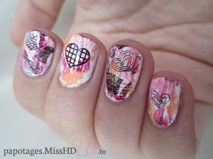 Nail art test stamping QA86