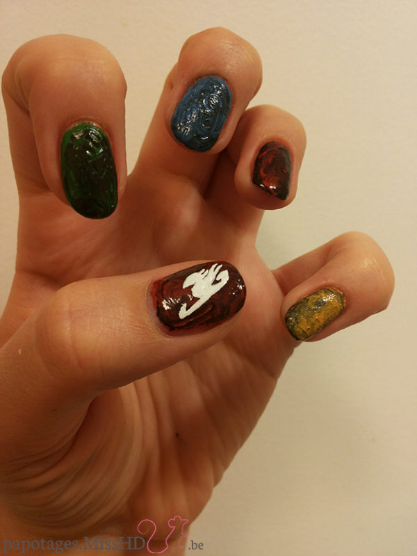 Nail art Fairy Tail (manga)