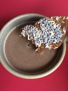 Herzlollies für heiße Schokolade