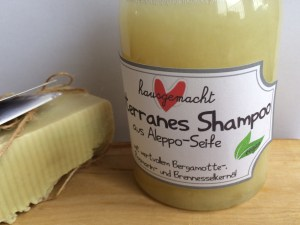 Shampoo aus Aleppo Seife