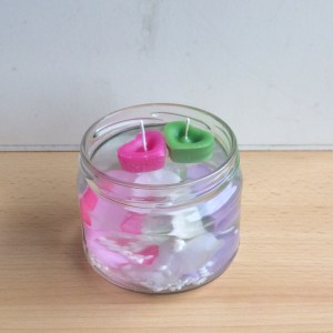 Blumen Wasser Kerzen Geschenk