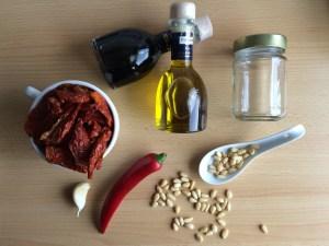 Zutaten für Pesto selber machen