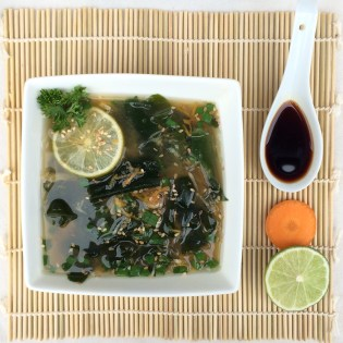 Suppe kalorienarm Miso Algen Wakame