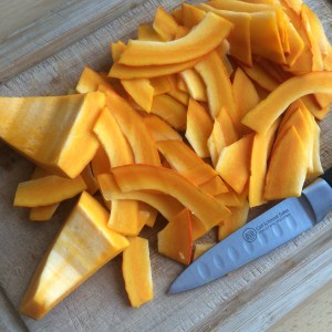Kürbis zubereiten zu Chips