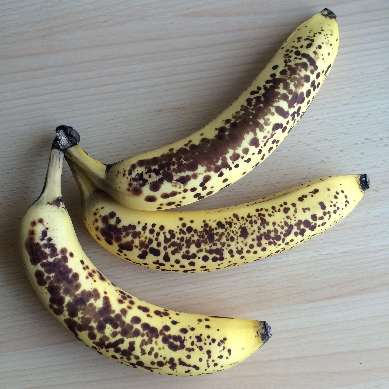 Eis aus gefrorenen bananen