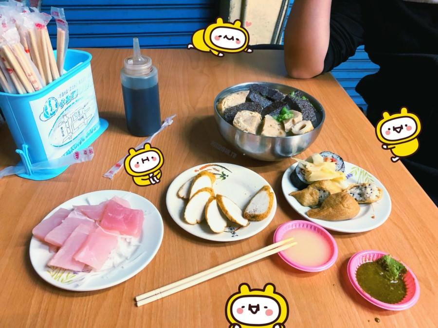 台中潭子美食【潭子壽司】銅板小吃好便宜!平價關東煮.生魚片