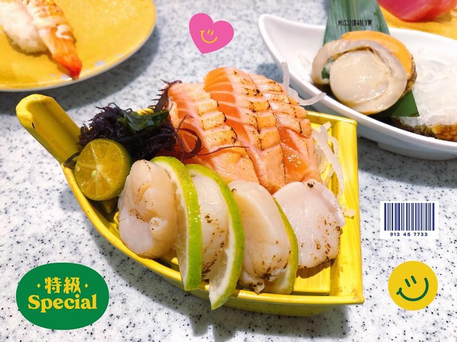 台中西區美食【点爭鮮/勤美店】可愛新幹線列車運送美食!平板點餐壽司!滿300元即可玩遊戲!