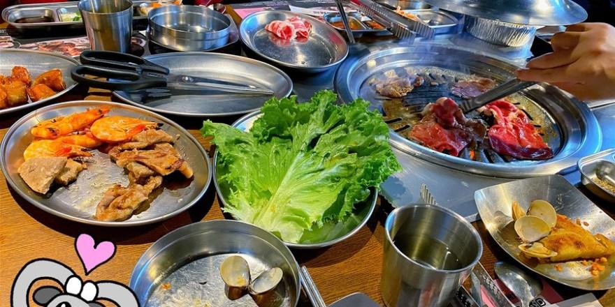 台中北區美食【阿豬媽韓式烤肉/火鍋吃到飽】一中街韓式燒肉吃到飽!火烤兩吃雙享受!